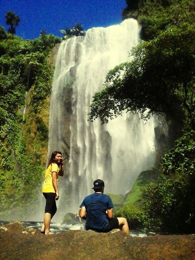 Friendship goalsPaint The Town Yellow Waterfall Outdoors Beauty In Nature Hulugan Falls When In Laguna, Philippines TheCleverTraveler