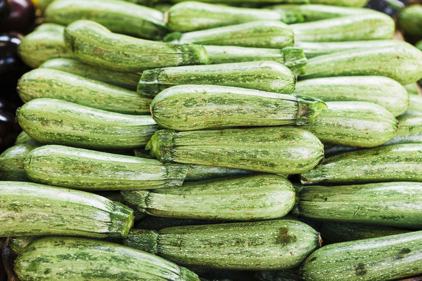 Zucchini Abundance Backgrounds Close-up Day Food Food And Drink Freshness Full Frame Green Color Healthy Eating Indoors  Large Group Of Objects No People Vegetable