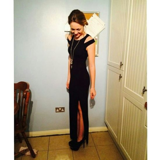 Fashion Maxi Dress Night Out Model