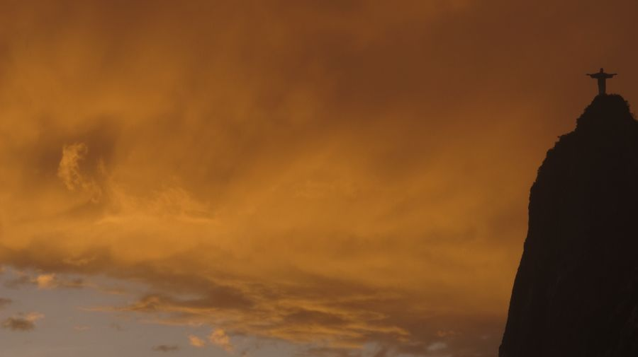 Rio quente Sky Sunset Cloud - Sky Orange Color No People Silhouette Scenics - Nature Beauty In Nature Dramatic Sky Building Exterior Nature Outdoors