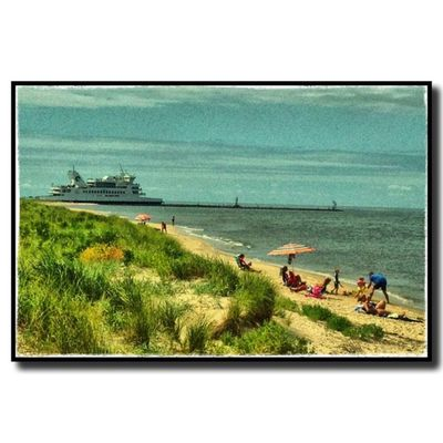 This is how I remember it looking when I was growing up! Instasummer Dune Summer Southjersey Beach Instabeach Water Delawarebay Sun Ignj Green Northcapemay Blue Capemaylewesferry Seaside Yellow Sand Sunny Nj