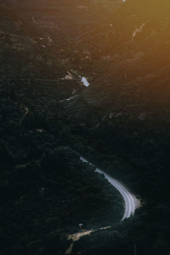 s curved road