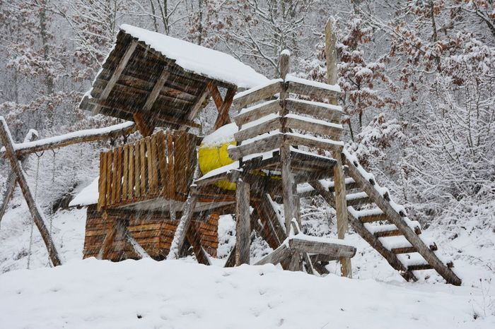 Winter Snow Cold Temperature Weather Building Exterior Built Structure Architecture House Outdoors Snowing No People Day Nature Extreme Weather Close-up Tranquility Tranquil Scene Village Scene Stara Planina East Serbia Balta Berilovac Village Life Serbia Shades Of Winter