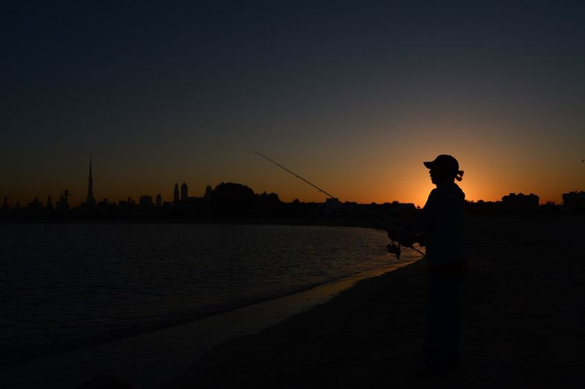 Fisherman EyeEm Nature Lover Sky Sunset Water One Person City Real People Men Sea Beauty In Nature
