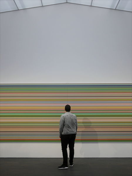 Art Exhibition SMAK Ghent Gerhard Richter Rear View One Man Only One Person Standing Only Men Adults Only Men Adult People Full Length Indoors  Day