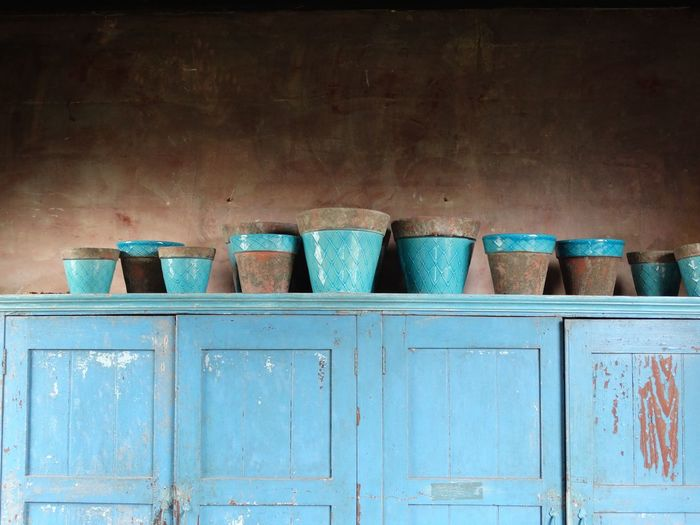 Blue Colour Pottery Onthetable ONTHECUPBOARD