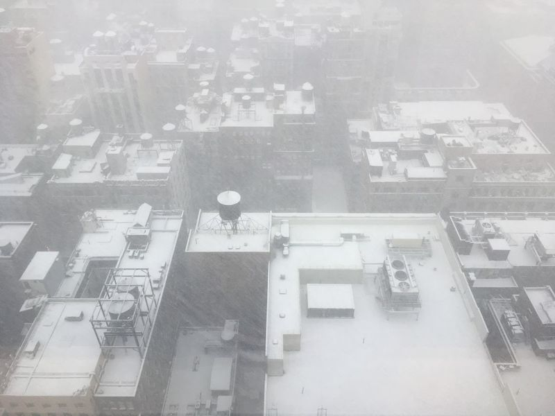 Looking out of a skyscraper window down on the snow-covered roofs below, Water tanks, air conditioning units, and rooftops covered in snow in Midtown Manhattan, NY. Aerial View Architecture Building Exterior Built Structure City Cityscape Day High Angle View Looking Down From Above Looking Out Window New York New York City New York Rooftop New York Rooftops New York ❤ New York, New York No People Outdoors Skyscraper Skyscrapers Snow Day Snow ❄ Snowing