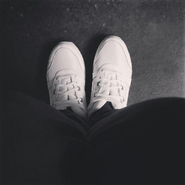 Asics Blaackandwhite Blank Bw Shoes Sneaker SneakerPorn Sneakers White White Color