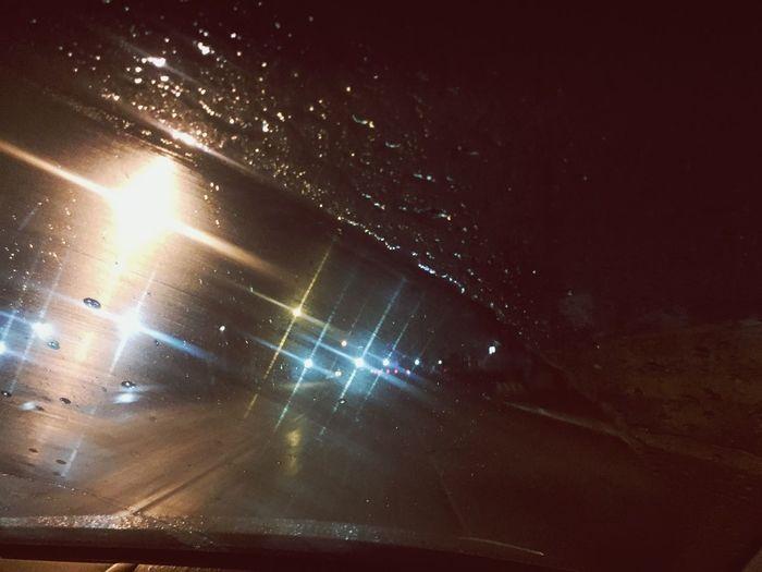Rain Rainy Days New Year Mexico Little Town Mexicali Baja California Lights Blurry
