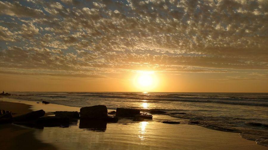 Sunset. Water