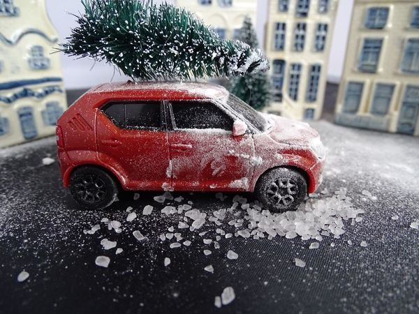 Car Land Vehicle Snowy Weather Toy Car Transportation Weather Mode Of Transport Wet Red Snowing Toy Car Winter Building Exterior Outdoors Day Water No People Dutch House Miniature Photography Suzuki Ignis Suzuki Miniature Dutch Landscape Snow Christmas Tree