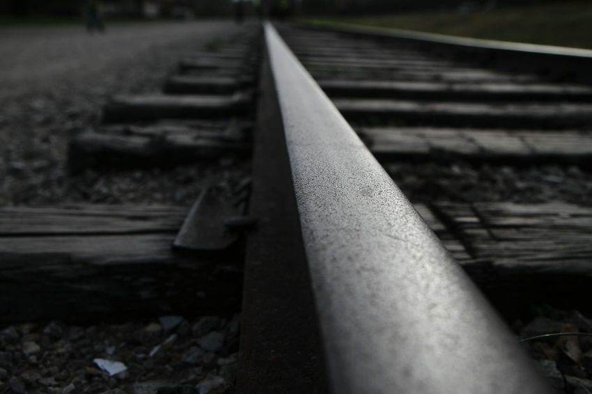 Maximum Closeness Railroad Track Rail Transportation Railroad Track Transportation Outdoors Day Nature Railroad Track Rail Transportation Transportation Outdoors Day No People Nature