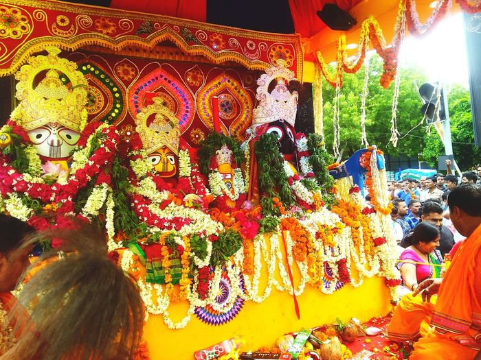 Shri Jaggan Nath Rath Yatra, Delhi LiveEvent Idol Temple - Building Temple Streetphotography Religion And Tradition Religious Icons Religious Symbol Religious Images Religious Event Tourist Attraction  Indiangod Religious Art Religious Architecture Jagganathtemple Rathyatra Streetphotography Multi Colored Close-up Display Colorful ArtWork Collection Representation Festival Place Of Worship The Street Photographer - 2018 EyeEm Awards