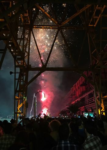 New Year Celebration Fireworks Puerto Madero Illuminated Arts Culture And Entertainment Large Group Of People Night Crowd Sky Real People Stage Light Popular Music Concert Stage - Performance Space Performance People Outdoors