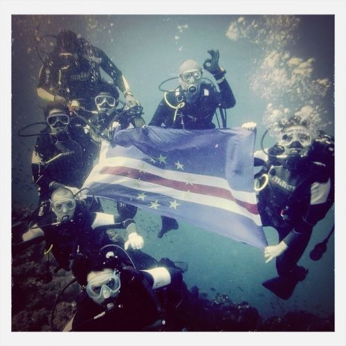 My dad's homeland flag in Africa! Flags Underwater Africa