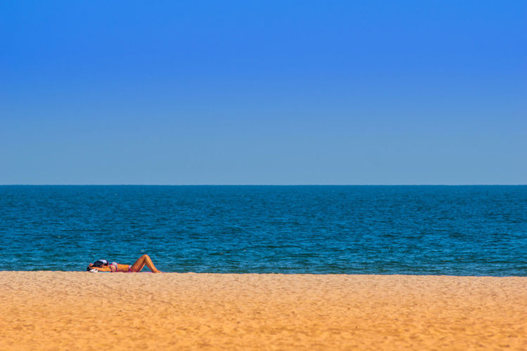 Beach Beauty In Nature Blue Clear Sky Day Horizon Over Water Nature Outdoors Sand Sea Sky Summer Summer Views Summertime Tranquil Scene Tranquility Water