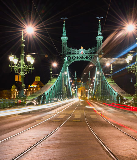 Partner Collection Budapest Budapest, Hungary Hungary🇭🇺 Libertybridge Liberty Bridge Liberty Bridge Budapest Budapest Bridges Light Trails Nightphotography Citylights✨ Citylights Long Exposure City Cityscape Illuminated Road Bridge - Man Made Structure Light Trail Street City Street Street Light Vehicle Light HUAWEI Photo Award: After Dark The Architect - 2019 EyeEm Awards