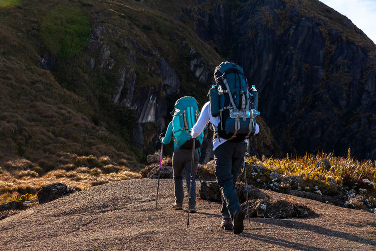 Mountain Mountaineering Trekking Hiking Backpacking Backpack Walking People Climbing Transmantiqueira Outdoors Nature Landscape Mountain Range Summit Adventure Challenge Crossing Track Trail Idyllic Sport Unrecognizable Person Way Watching