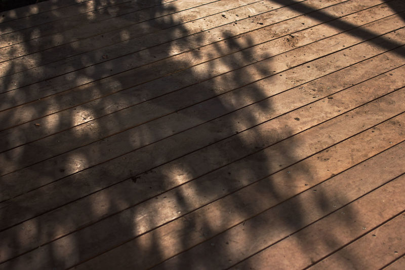 Backgrounds Backyard Backyard Photography Day Decking Decking Wood Full Frame High Angle View Leaves Lines No People Outdoors Pattern Patterns Patterns In Nature Shadow Shadows Shadows & Lights Sunlight Tree Shadow Trees Wood - Material