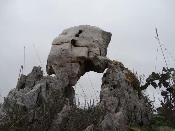 Boulder - Rock Day Extinct Landscape Natural Disaster Nature No People Outdoors Rock - Object Sculpture Sky