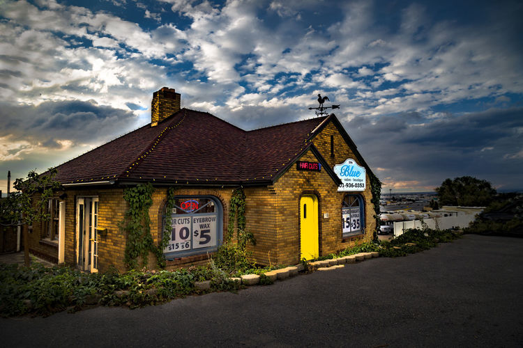 Independently owned and operated, new business, salon Blue. Business Paint The Town Yellow Awesome Blue Building Exterior Built Structure Independent  No People Salon Sky Sunset Taken By M. Leith Yellow