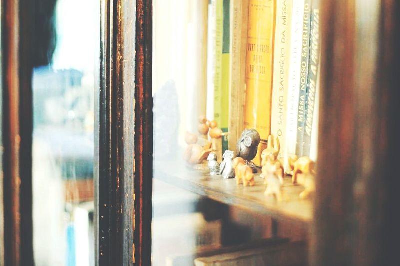 Figurines On Shelf