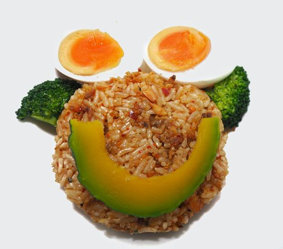 Healthy food fire rice vegetable well being eggs Fun Food Breakfast Broccoli Close-up Cut Out Drink Fire Rice Food Food And Drink Freshness Fruit Green Healthy Eating Indoors  Orange Orange Color Ready-to-eat Serving Size SLICE Still Life Studio Shot Vegetable Vetgetables Wellbeing White Background