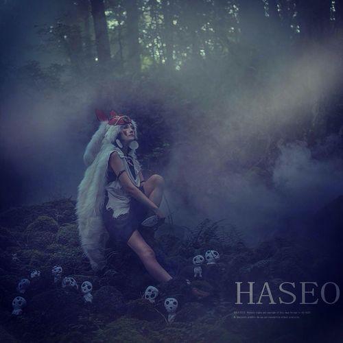 もののけ姫 Hair make up by Me, model Mukai photo by Haseo Princess Mononoke