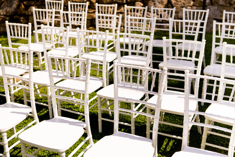 Chair Seating Arrangements Wedding Chair Day Empty No People Outdoors Row Rows Of Things Seating Seats Seats Available Wedding Ceremony Wedding Day