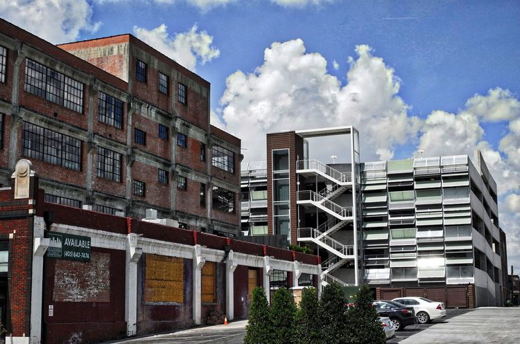 Architecture Building Exterior City Day No People Old And New Architecture Red Brick Building Sky And Clouds
