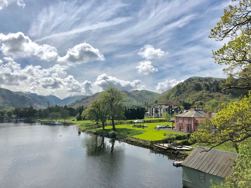 Ullswater Lake, near the Glenridding Village - Lake District, UK May 2018 Ullswater Ullswater, Lake District, Blissful Amazing View Amazing Nature Lake District Tree Sky Cloud - Sky Plant Water Beauty In Nature Reflection Nature Scenics - Nature Tranquility Waterfront Lake First Eyeem Photo