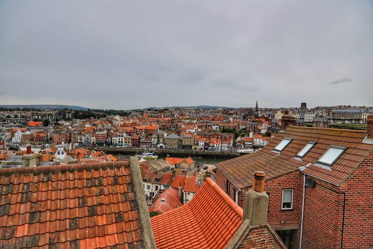 Whitby Whitby Whitby Abbey Architecture Built Structure Building Exterior Roof Building City Residential District Sky House Cloud - Sky Crowd Nature High Angle View Crowded Roof Tile Day Community Town Cityscape TOWNSCAPE Outdoors Settlement