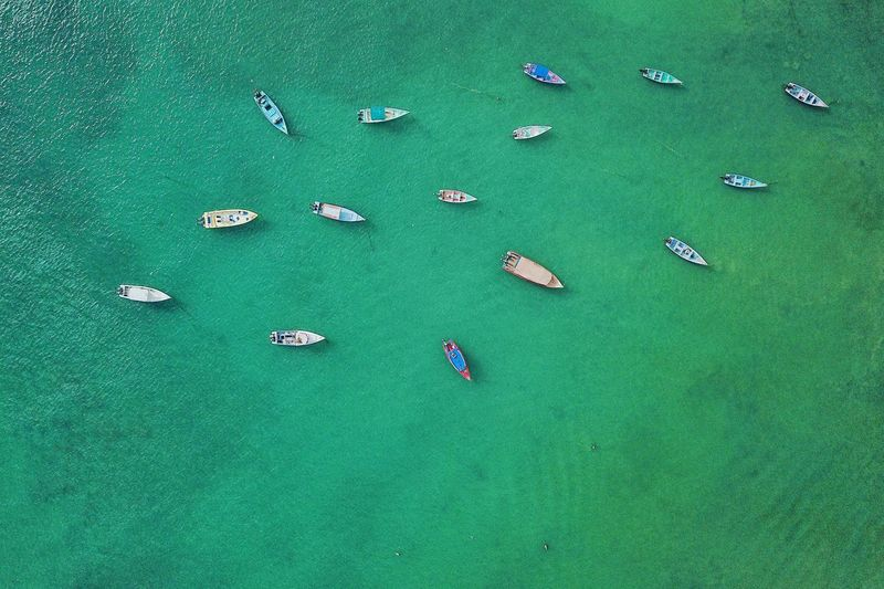 No waves Green Color High Angle View Aerial View Nature Day Water Environment The Great Outdoors - 2018 EyeEm Awards The Traveler - 2018 EyeEm Awards