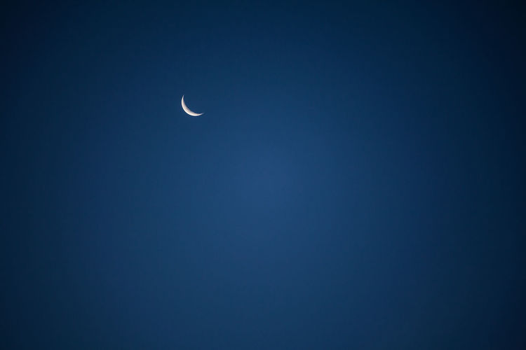 Crescent Moon Against Clear Sky