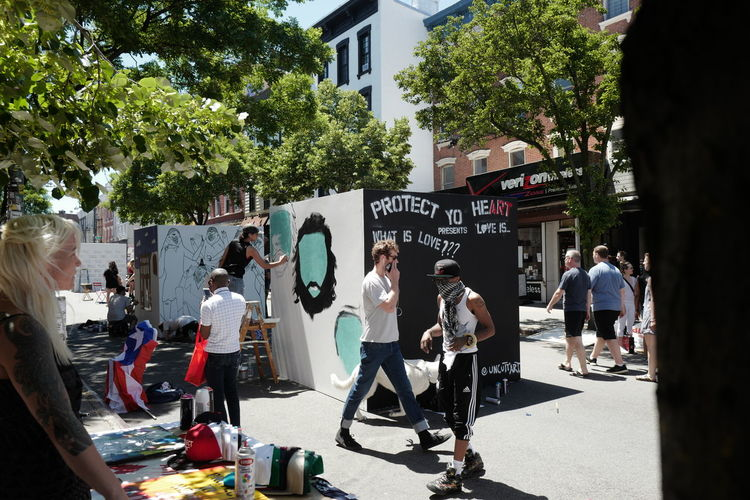 Northside Art taking over Bedford Ave, June 2016 Northside Festival Northsidefestival Williamsburg Williamsburg, Brooklyn  Brooklyn Bedfordavenue Northsideart Williamsburgwalk Art In The Streets Painting Leicaq 28mm Streetphotography Street Photography Streetphoto_color