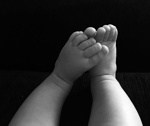 Close-up Of Baby Legs