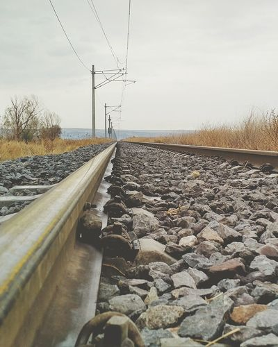 Sonbahar Railroad Track Rail Transportation The Way Forward Transportation Cloud - Sky Outdoors No People Train - Vehicle Day Industry Rural Scene Sky Nature Winter Electricity Pylon Eyeemphotography Autumn Autumn Colors Türkiye EyeEmNewHere Blackberry Priv EyeEm Best Shots Outdoor Building Exterior Turkey