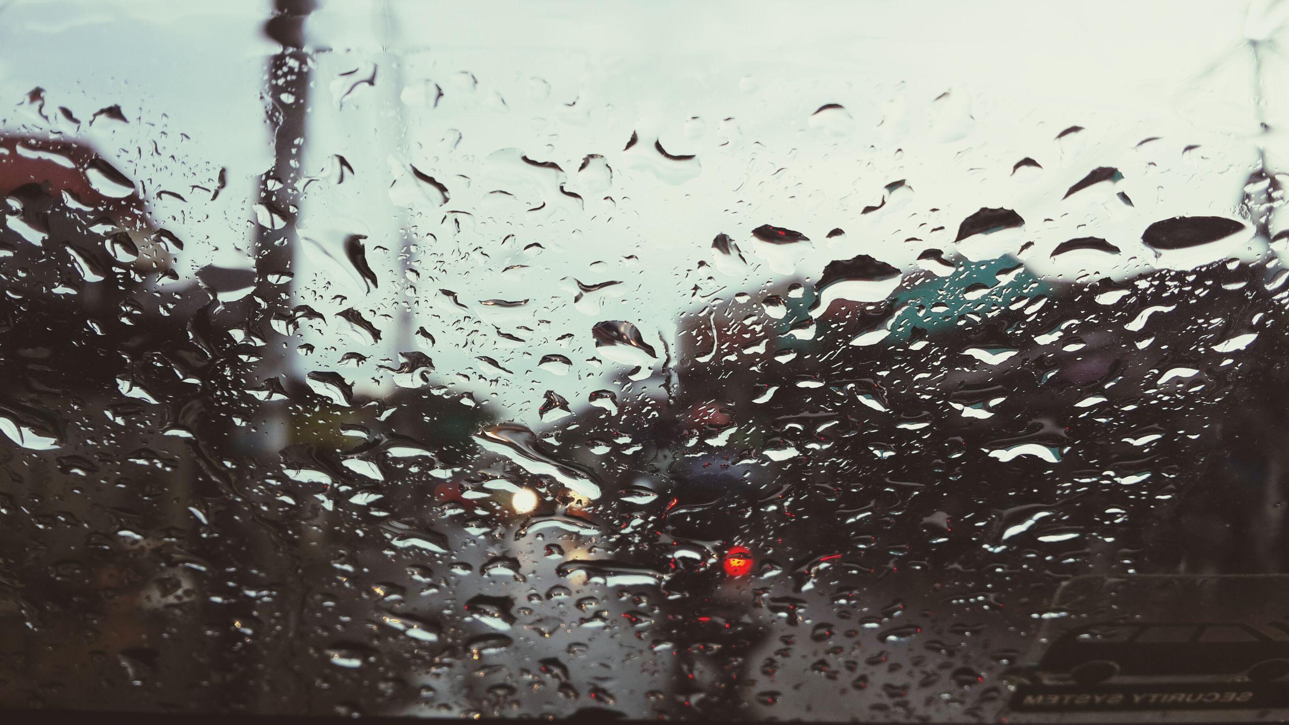 drop, window, wet, transparent, indoors, glass - material, rain, water, weather, raindrop, season, car, glass, transportation, sky, vehicle interior, land vehicle, full frame, built structure, backgrounds