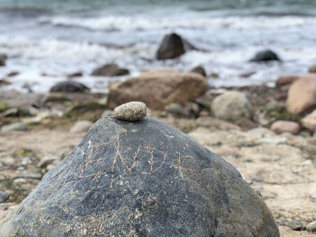 The End Nature Photography Nature_collection Meer Ostsee Steine Rock Solid Land Focus On Foreground Nature Rock - Object Day Land Water Sea Stone - Object No People Nature Beach Stone Sand Beauty In Nature