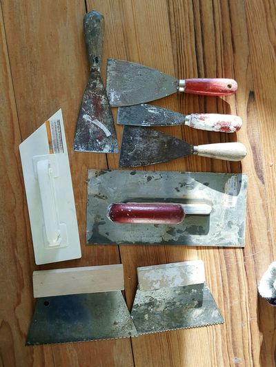 Manual Work Tool Kit Putty Knife DIY High Angle View Variation Close-up Hand Tool Tool Work Tool
