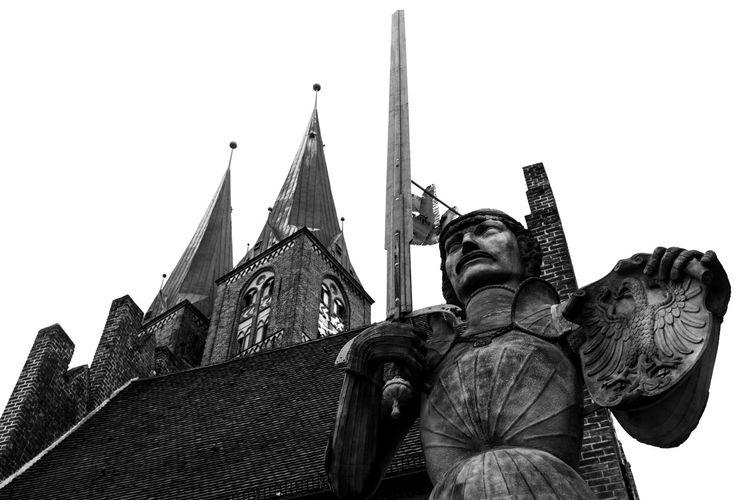 Backsteingotik Denkmal Denkmal -Deuschland Kirche Stendal Ostdeutschland Roland Schwert