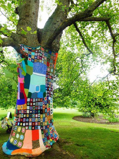 Kew Gardens Tree Flowers,Plants & Garden Crochet Yarn Bombing Yarnbombing