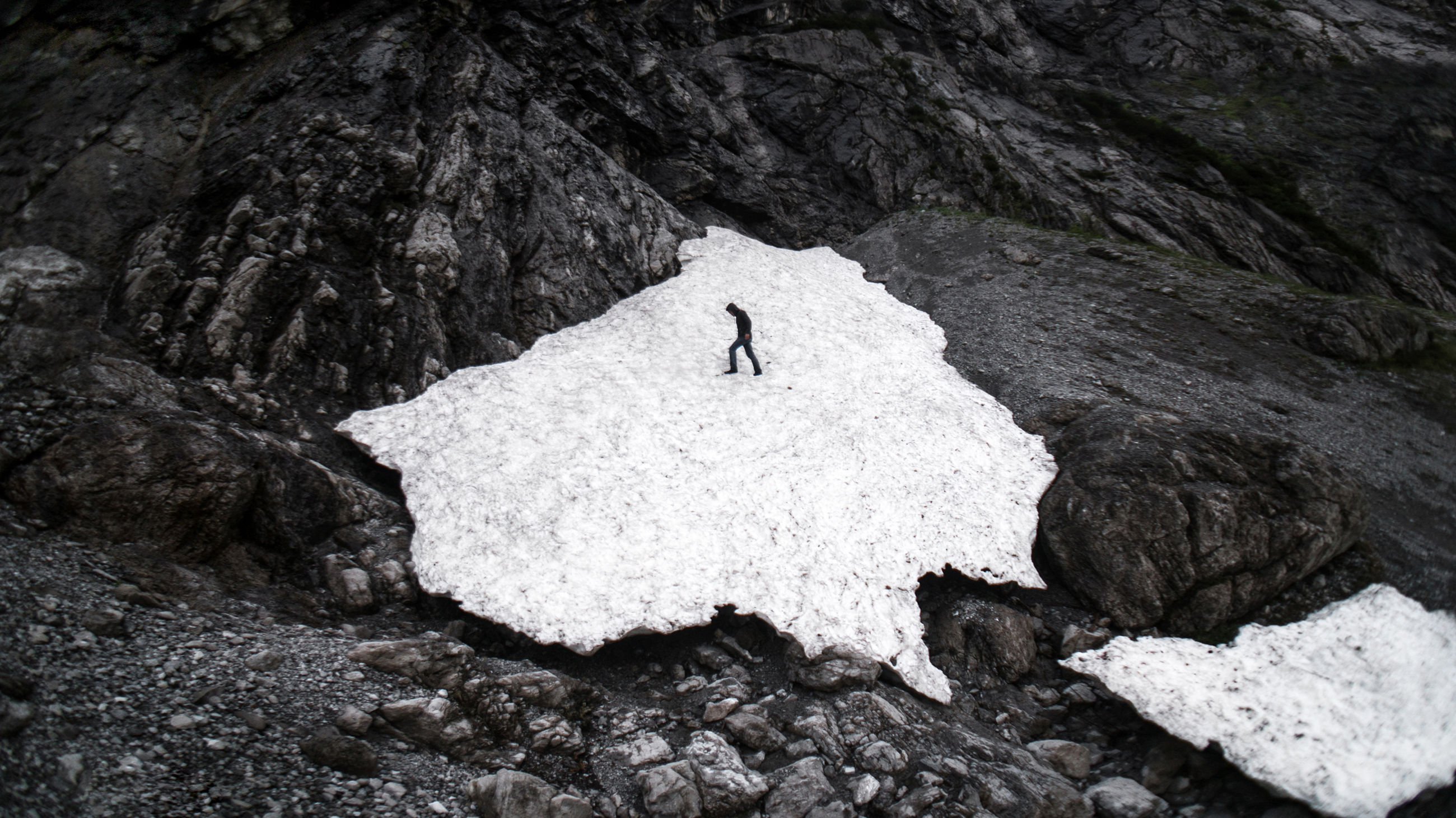rock - object, adventure, nature, outdoors, day, cliff, mountain, one person, animal themes, people, glacial