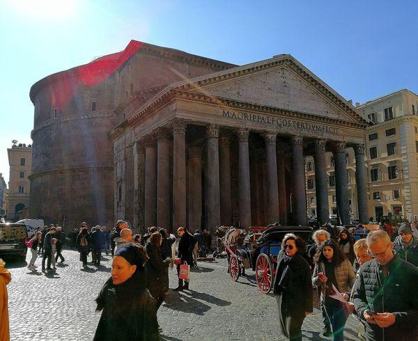 Rome Italy🇮🇹 City Travel Photography Travel Beauty Pantheon EyeEmNewHere Eye4photography  Sunny Sunnyday☀️ People Citylife Historic Amazing