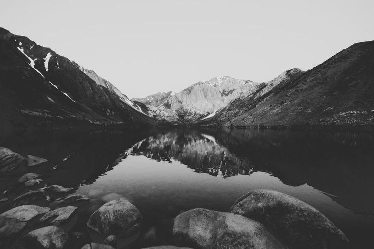Our Love Found Beauty In Nature Clear Sky Convict Lake Day Lake Lake View Mammoth Mountain Mountain Range Nature No People Outdoors Scenics Sky Tranquil Scene Tranquility Travel Destinations Water
