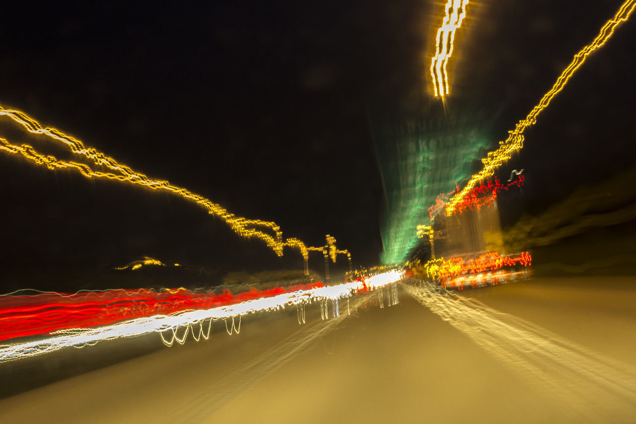 night, illuminated, long exposure, motion, transportation, blurred motion, light trail, road, speed, glowing, no people, architecture, city, sky, street, nature, the way forward, mode of transportation, outdoors, car