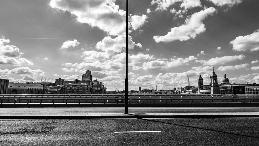 Cloudscape EyeEm EyeEm Best Edits EyeEm Best Shots EyeEmBestPics London Architecture Black And White Blackandwhite Blackandwhite Photography Building Built Structure City Cityscape Cloud - Sky Clouds Day No People Outdoors Sky Skyscraper Tower