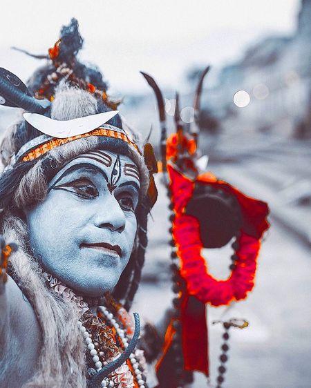 Man dressed as lord shiva