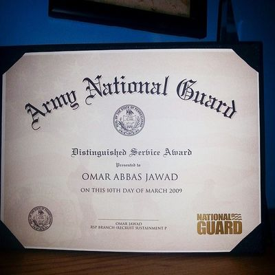 Throwback Thursday! Army Nationalguard Military Solider serviceaward