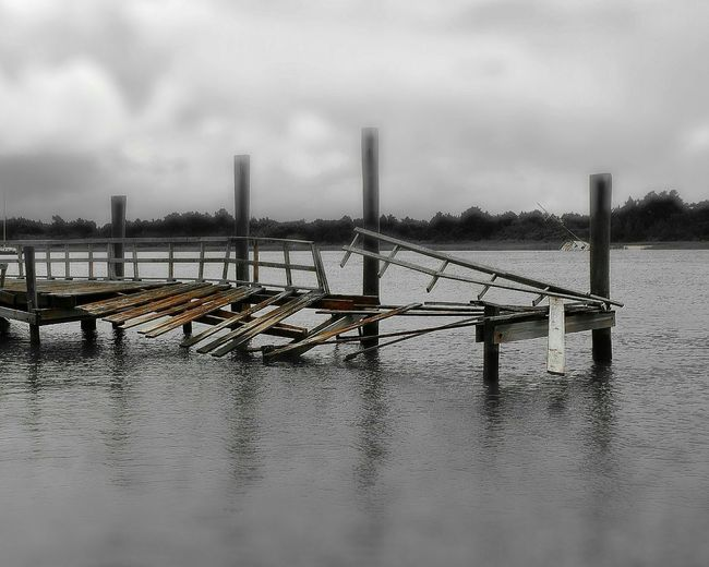 Weather damaged Harbor Dock in Morehead City. Docks Rough Seas Saltlife Smartphonephotography PhotographybyTripp
